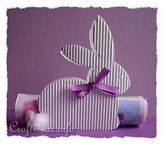 Corrugated Bunny Paper Napkin Holder