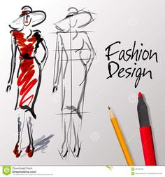 Fashion design sketches royalty-free fashion design sketches stock vector art & more images Fashion Design Classes, Fashion Design Sketches, Sketch Design, Become A Fashion Designer, Entertainment Stand, Boutiques, Find Art, Vector Art, Love Fashion
