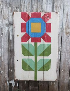 This x barn quilt is hand painted onto solid wood and finished for outdoor or indoor use. Custom colors available upon request. Barn Quilt Designs, Barn Quilt Patterns, Quilting Designs, Storm At Sea Quilt, Barn Signs, Wood Signs, Painted Barn Quilts, Barn Art, Scrappy Quilts