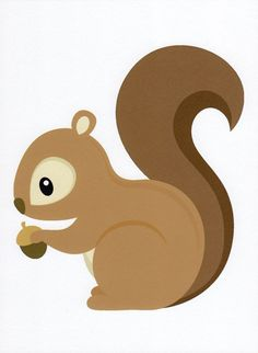 squirrel clip art at DuckDuckGo Woodland Party, Woodland Nursery, Forest Animals, Woodland Animals, Art Wall Kids, Nursery Wall Art, Nursery Decor, Decoration Creche, Art And Craft Videos