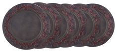 """Set/6 13"""" Dia Art Noveau Charger Plates - traditional - Charger Plates - Old Dutch International"""