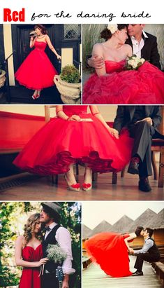 New wedding dresses red bridal musings ideas Colored Wedding Dress, Red Wedding Dresses, Wedding Attire, Wedding Colors, Wedding Styles, Wedding Gowns, Bridesmaid Dresses, Trendy Wedding, Dresses Dresses