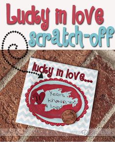 Show your love how lucky you are to have them.  Follow this simple #DIY tutorial to create scratch-off cards that reveal your love for them! www.TheDatingDivas.com #love #romance #valentine
