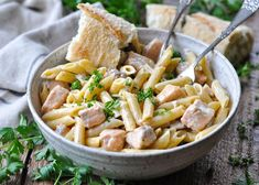 A quick and flavorful weeknight dinner! This easy Salmon Pasta recipe is ready for the table in just 20 minutes. You'll love the tender fish that's tossed with penne, mushrooms and peas in a simple cream sauce. It's a restaurant-quality meal that's fancy enough for entertaining, but fast enough for busy evenings. You can't beat an easy salmon pasta that comes together in less than 30 minutes. Add a cream sauce and plenty of veggies and you've got a meal that makes Mom and the kids happy…