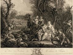 LEMPEREUR, Louis Simon (after I.B.M. Pierre) (1728-1807) / Declaration of a Shepherd, or The Lover / engraving