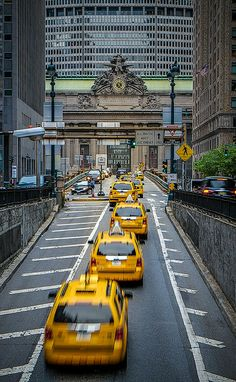 Grand Central Taxis, New York.