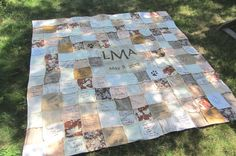 Custom Autograph Wedding Quilt for Amanda by ThePinCushion on Etsy