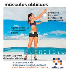 Para moldear la cintura trabaja tus músculos oblicuos que son justamente los que bordean los costados. Haz giros como en este ejercicio