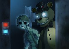 FNAF - Freddy and his ghost by LadyFiszi.deviantart.com on @DeviantArt