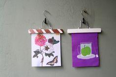 Bilder aufhängen mit Hosenbügeln