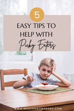 Do you feel out of control when mealtime approaches? Do you have a picky little ruling the dining room table? Hey Mama, I promise, you're not the only one. Here are 5 easy tips to help with picky eaters. #toddlermom #pickyeaters #toddlermealtime #pickyeating