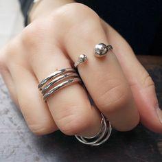 #bijoux #bijouxcreateur #bracelet , tendance bijoux 2016 ,#tendancebijoux : #silver #ballring