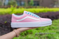 Vans Pop Old Skool Classic Pink True White Womens Shoes Discount 90a92f9cc