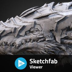 3D Creature Bust, Chung Kan on ArtStation at https://www.artstation.com/artwork/3d-creature-bust