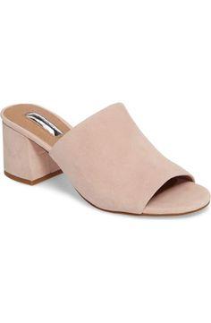 dbebbc4ed Freda slide by Halogen in soft pink suede via Nordstrom Slide Sandals