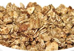 Homemade Healthy Granola Recipe with Oats, All Bran, Cinnamon, and Dried Fruit Whole Food Recipes, Snack Recipes, Cooking Recipes, Healthy Recipes, Healthy Eats, Yummy Recipes, Diet Recipes, Yummy Food, Snacks