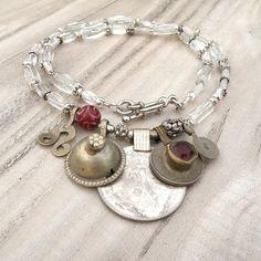 Nomadic Talisman Necklace - Persian Ice -Tribal Gypsy Jewelry by GypsyIntent