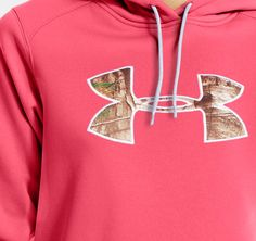 womens pink camo under armour hoodie