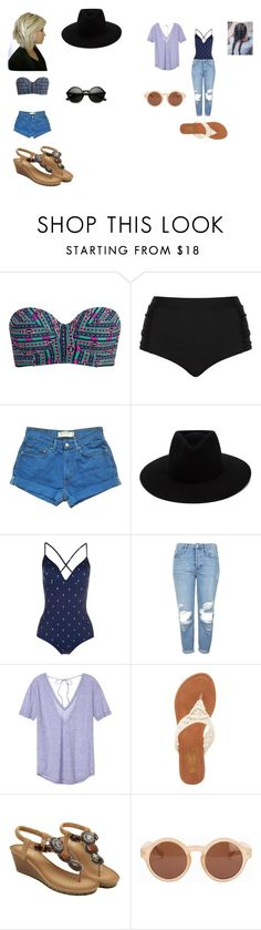 """""""Bathing suites"""" by geor6900 on Polyvore featuring Billabong, Cactus, Levi's, rag & bone, Paul Smith, Topshop, Victoria's Secret, Charles Albert, NLY Accessories and ZeroUV"""