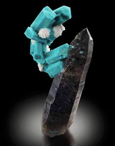 Quartz var.Smoky with Amazonite - Confetti Pocket, Teller County, Colorado, USA