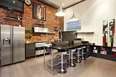 Superb #Brick Warehouse Conversion in Abbotsford, Melbourne #house #kitchen