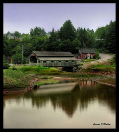 Covered Bridge St Martins New Brunswick Canada by threesalmon, via Flickr