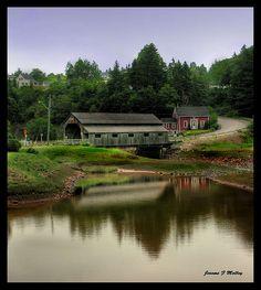 Covered Bridge, St Martins, New Brunswick, Canada
