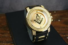 Men's Gold Tone Bling Watch Stainless Steel Iced Out Bullet Style Trendy Large Masonic Diamond & Co. http://www.amazon.com/dp/B00T5KUV0K/ref=cm_sw_r_pi_dp_g8U1ub17DA0E4