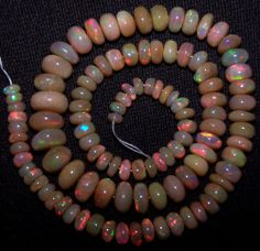 Premium 118 Ct Insane Red Fire Ethiopian Welo Opal Loose 5-11 MM Bead String 16""
