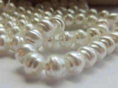 Czech Glass Bead Baroque Pearls White 6mm QTY by gypsybeadpeddler