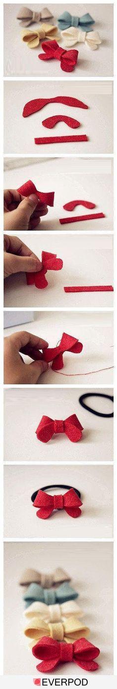 how to make a Felt Bow - no bulk!