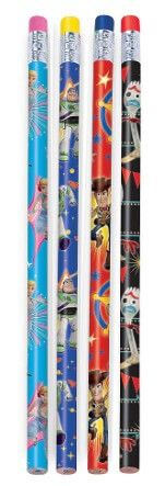 Toy Story 4 Pencils Party Favours With Bo Peep, Forky, Sheriff Woody, Buzz Lightyear - Pack Of 8
