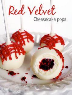 Recipe and Tutorial: Red Velvet Cheesecake pops