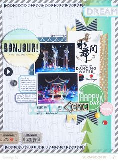 In a Creative Bubble: Studio Calico Front Row - Scrapbook Layouts