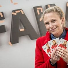 TV star Julie Taton sells plasters for Red Cross Belgium