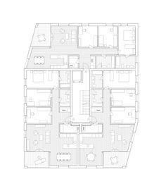 Die vorgeschlagene Bebauung des Mythen-Hofs bietet einen im Innern der Siedlung liegenden öffentlichen Raum, der dem Ort Ibach eine sicht- und nutzbare Identität verleiht und in dessen Mitte eine Wasserfläche sowie ein Pavillonbau mit öffentlichen Nutzungen zusätzliche Qualität bieten. Die um …