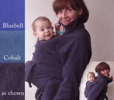 Sling Coat - Designed for Back AND Front Carry - Fits over Wraps, Slings and Mei-Tai type carriers - Maternity, Nursing and Babywearing Wrap-Around jacket - Looks Great with the Baby or Solo