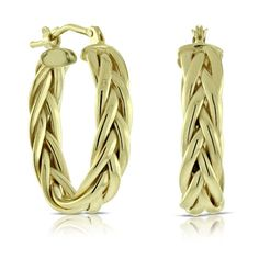 Toscano Braided Hoop Earrings 14K Italian Style, Braids, Hoop Earrings, Jewellery, Elegant, Gold, Beautiful, Collection, Classy
