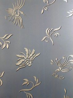 Stencils   Oriental Brushstroke Wall Stencils   Royal Design Studio