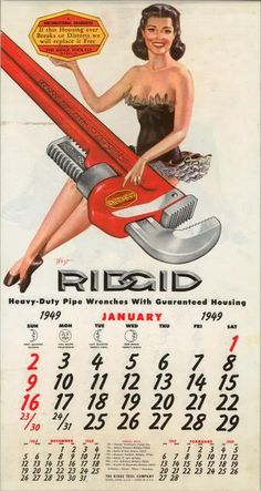Vintage Ridgid - page 1 - Collector / Vintage / Antique - The Garage Gazette These Girls, Pin Up Girls, Ridgid Tools, Plumbing Tools, Fishing Girls, Straight Guys, Just For Fun, Race Cars, Vintage Antiques