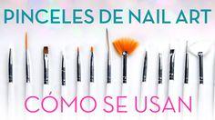 Aprende a usar, cuidar y limpiar los 5 pinceles básicos de nail art. Pincel de abanico y dotting tool. Trucos y consejos de herramientas de nail art en un ví...