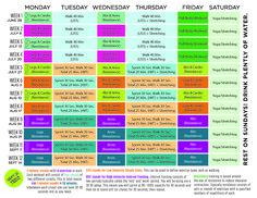 Kayla Itsines Beach Body Workout Calendar