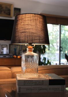 Thrifted Genius: Glass DecanterLamp - Darling Magazine with Miss Kris
