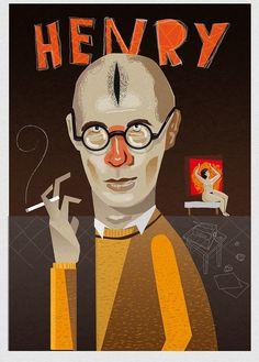 Retrato de Henry Miller y Anais  By Pablo Gallardo