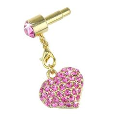 EarlyBirdSavings Hot Pink Bling Rhinestone Anti Dust Earphone Jack Plug Charm for iPhone 5 4S 4GS by EarlyBirdSavings. $4.10. A must for all iPhone iPod iPad owners - Insert it into the the headphone socket and charger socket on your iPhone iPod iPad to stop dust collecting inside the holes. Protect your Phone's docking port from dust and lint. Suitable for all the devices with standard 3.5mm earphone jack. Jewels shine brilliantly. very fashionable and unique ce...