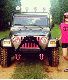 Step one of pinkifying my jeep will be definitely be pink rims Pink Jeep, Red Jeep, Jeep Suv, Jeep Truck, Jeep Accessories, Jeep Wrangler Accessories, Chevrolet Blazer, Pink Rims, Car Goals