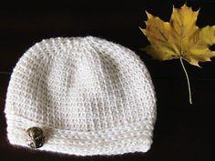 Faux Knit Beanie Crochet Pattern, 0-3 Months to Woman
