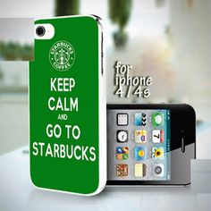 Keep Calm and Go To Starbucks design for iPhone 4 or 4s case