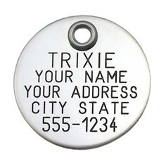 """Pet ID Tag - Stainless Steel Round - 1"""" diameter - Custom engraved dog & cat ID tag. Pet safety tag has reflective coating and is great for any pet! - http://www.thepuppy.org/pet-id-tag-stainless-steel-round-1-diameter-custom-engraved-dog-cat-id-tag-pet-safety-tag-has-reflective-coating-and-is-great-for-any-pet/"""