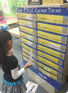 """""""My Name Is..."""" Pocket Chart Activity (from The First Grade Parade)"""